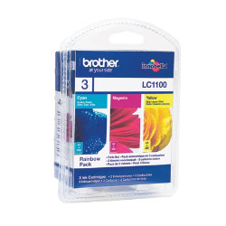 Brother LC1100 Colour Cartridge Pack LC1100RBWBP