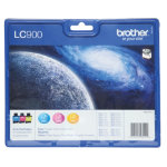 Brother LC900 Cyan Magenta Yellow Printer Ink Cartridge LC900RBWBP