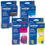 Brother LC980 BK C M Y Original Black 3 Colours Ink Cartridges