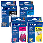 Brother LC980 BK C M Y Original Ink Cartridge Black 3 Colours