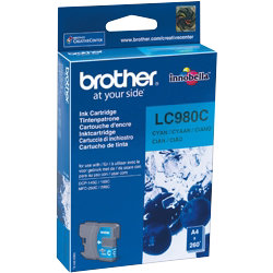 Brother LC980 Cyan Printer Ink Cartridge LC980C