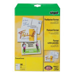 Sigel PC 185gsm A6 Record Cards White