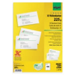 Sigel PC 225gsm Business Cards for Inkjet Laser Copier High White 100 pack