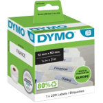 DYMO Lablewriter Labels 99017 12 x 50 White