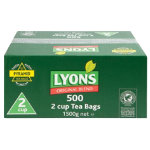Lyons original blend tea bags box of 500 2 cup