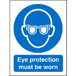 Mandatory Sign Eye Protection Must Be Worn PVC 150 x 200 mm