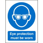 Mandatory Sign Eye Protection Must Be Worn Self Adhesive Vinyl 150 x 200 mm