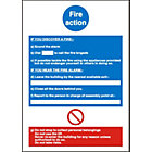 Mandatory Fire Instruction Sign 210X297mm Self Adhesive Vinyl