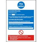 Fire Instruction Sign W210 x H297mm Mandatory Sign Rigid PVC Photoluminescent