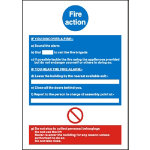 Fire Instruction Sign W210 x H297mm Mandatory Self Adhesive Vinyl Photoluminescent