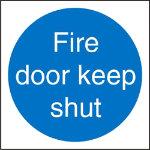 Mandatory Door Sign Fire 10 x 10 cm