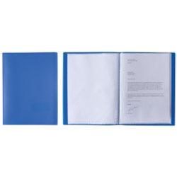 Elba Presentation Display Book A4 20 Pockets Blue
