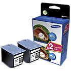 Samsung M40V Original Ink Cartridge Black Pack 2
