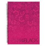 Pink Black Wirebound Hardback Notebooks A4