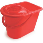 15L Traditional Mop Bucket And Wringer Red