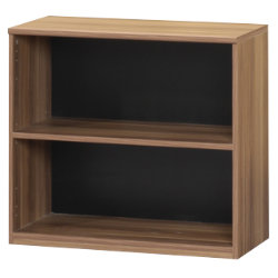 Office Depot Mexico low office storage bookcase walnut effect