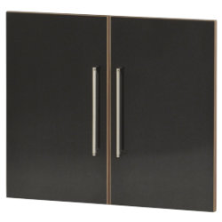 Office Depot Mexico low cupboard doors gloss black