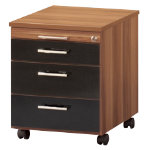 Mexico mobile office storage pedestal walnut effect