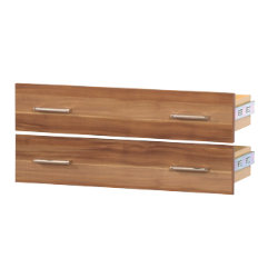 Office Depot Mexico Set of 2 office storage drawers walnut effect