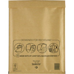 Sealed Air H5 Mail Lite Gold Mailing Bags 360 x 270 mm Box 50