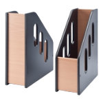 Wooden magazine file black
