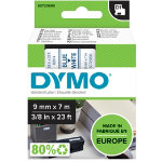 Dymo D1 Labels Blue On White 9mm x 7m