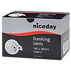 Niceday Franking Labels 38 x 140mm 1000 Labels Per Box