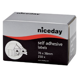 Niceday Self Adhesive Address Labels 76x38mm  250 Labels