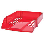Niceday Letter Tray Transparent Red