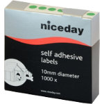 Niceday Coloured Labels Green 10mm