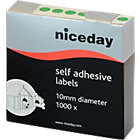 Niceday Coloured Labels Green 1000 Labels per pack Box 1000
