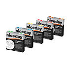 Niceday Niceday Coloured Labels Yellow 10mm