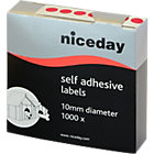 Niceday Coloured Labels Red 1000 Labels per pack Box 1000