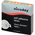 Niceday Coloured Labels Circular Orange 1000 Labels per pack Box 1000