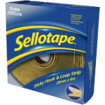 Sellotape Sticky Hook and Loop Strip 6M