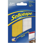 Sellotape Sticky Hook And Loop Pads Pack 24