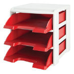 Leitz Plus Letter Tray Rack Red A4