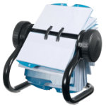 Rolodex Business Card File Black 200 x 145 400 Card Capacity