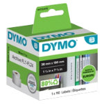 DYMO LabelWriter Small Lever Arch File Labels White 38x190 mm