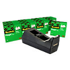 Scotch Tape Dispenser C38 Black with 12 rolls of Magictm Tape 19mm x 33m
