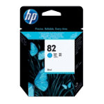 Original HP No82 cyan printer ink cartridge C4911A