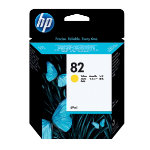 Original HP No82 yellow printer ink cartridge C4913A