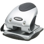 Rexel P240 Premium Two Hole Punch Silver Black