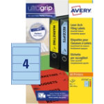 Avery Colour Lever Arch File Laser Labels 200 x 60mm L7171A 20