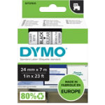 Dymo Tape 24mm x 7m Black on Clear
