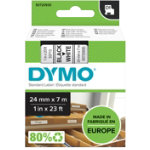 DYMO Labelling tape 53713 D1 24 mm x 7 m Black White