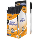 Bic Cristal Medium 10mm Ballpoint Pen Black Pack of 50