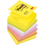 Post it Z Notes 76 x 76 mm Assorted 6 Pads Per Pack