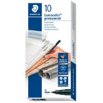 Staedtler Lumocolor OHP and CD Pens Permanent Medium Black Pack Of 10
