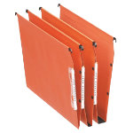 Esselte Orgarex Visicontrol Lateral Suspension Files 15mm Base 330mm Orange Box 25